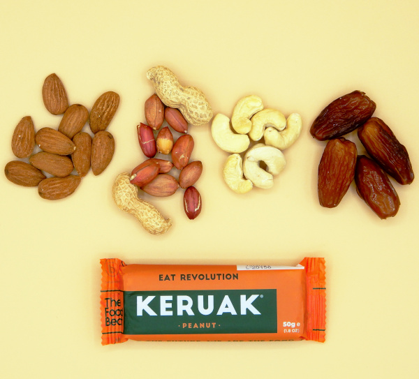 Ingredientes Keruak peanut barrita natural